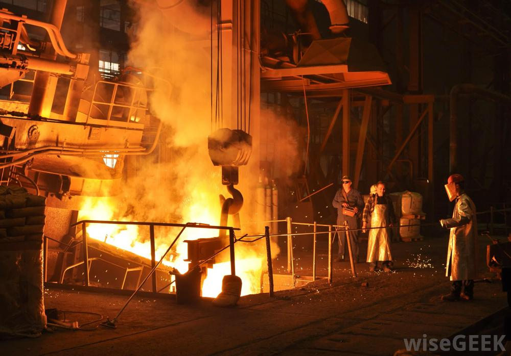 steel-being-forged-at-mill